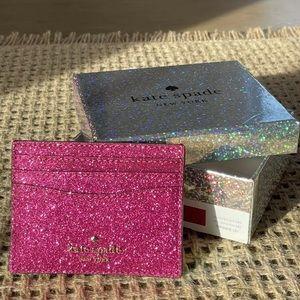 Kate Spade Lola Joeley Glitter Card Holder Pink